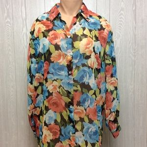 Colorful Floral Fun Blouse PLUS SIZE